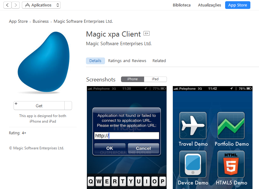 Magic xpa RIA Client for iOS