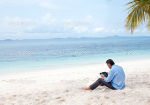 depositphotos_9251365-Business-man-sitting-and-working-on-the-beach-with-Ipad-300x211