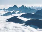 Olympic Mountain Range above fog cover, Washington 516015