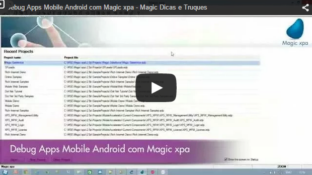 Usando controles .NET com o Magic xpa
