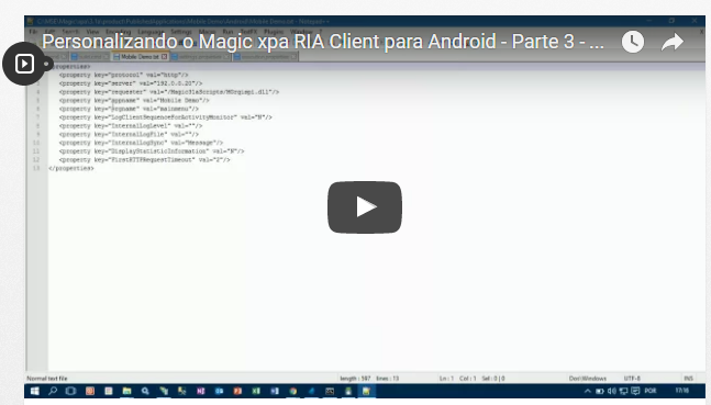 Personalizando o Magic xpa RIA Client para Android – Parte 3 – Criação Manual