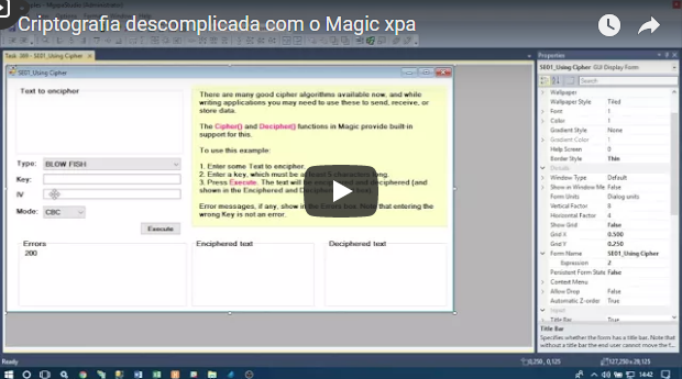Criptografia descomplicada com o Magic xpa