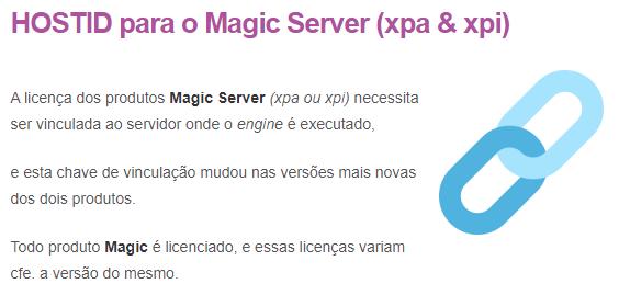 HOSTID para o Magic Server (xpa & xpi)